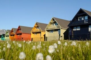 Die bunten Häuser von Longyearbyen