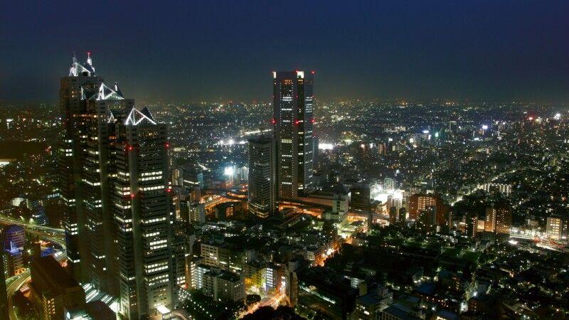 Blick vom Rathausturm in Tokio © Diamir