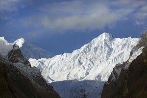 """Hinten links der Diran - der Berg im Vordergrund hat keinen Namen, ist ja """"nur"""" ein 6000er...!"""
