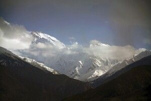 Blick vom Karakorum highway am Nanga Parbat View Point.