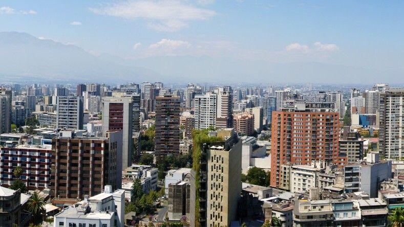 Blick vom Cerro Santa Lucia in Santiago de Chile © Diamir