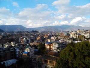 Blick von der Dachterrasse vom Kathmandu View Hotel