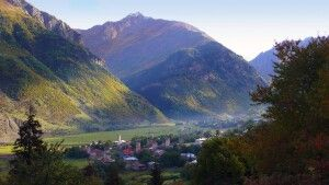 Swanetisches Dorf