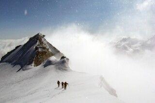 Beeindruckende Wetterstimmung in den Bergen.