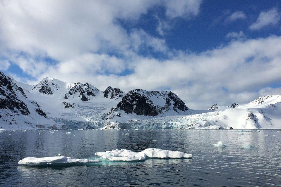 Arktische Landschaft in der Hamiltonbukta