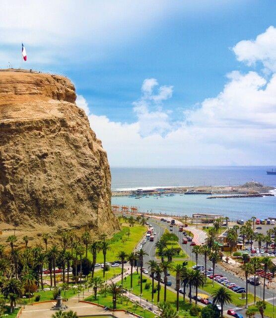 Arica mit seinem berühmten Felsen Morro
