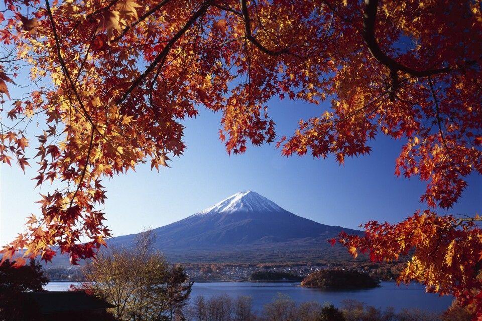 Fuji zur Herbstlaubfärbung
