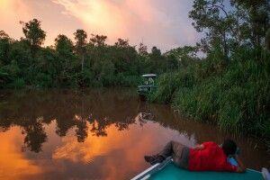 Sonnenuntergang auf Kalimantan
