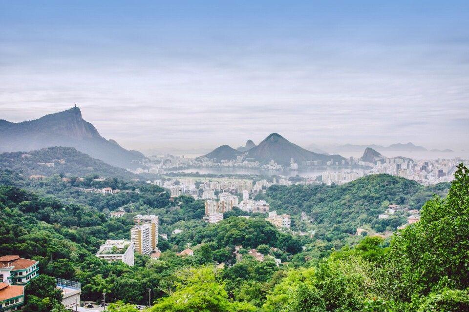 Blick von Rocinha auf Rio de Janeiro