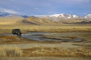 Traumhafte Landschaft auf dem Weg zum Golden Eagle Festival