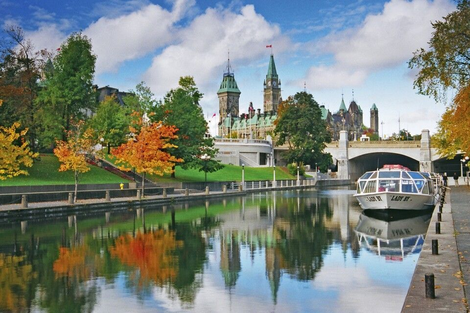Die Rideau Canal National Historic Site in Ottawa