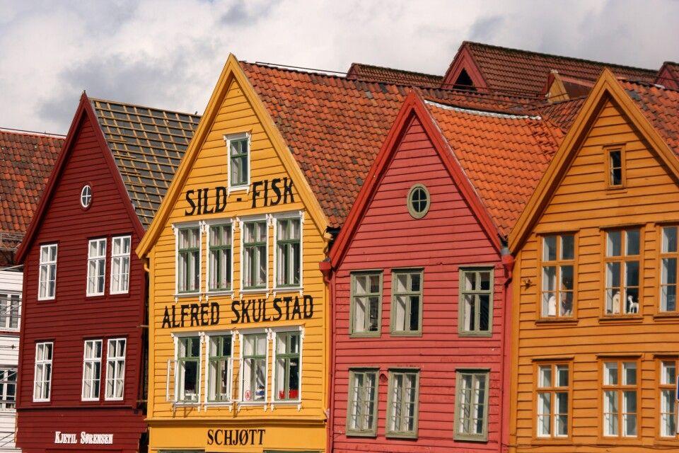 UNESCO Stätte Bryggen in Bergen