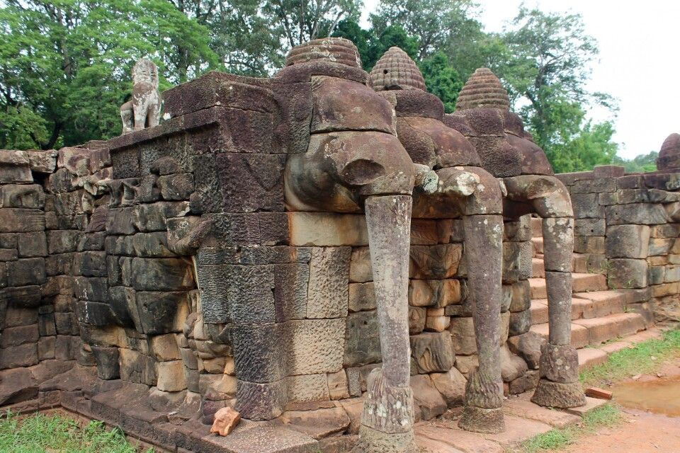 An der Elefantenterrasse in Angkor