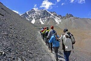 Stok Kangri (6121m), Akklimatisationsaufstieg vom Basislager (5000m)