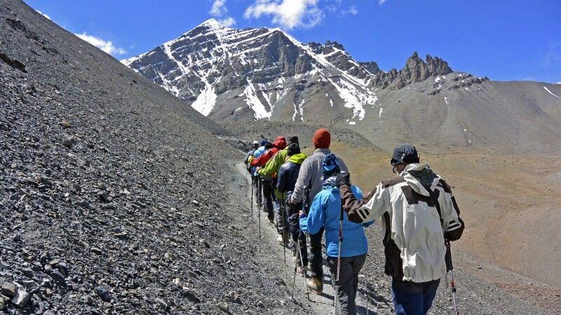 Stok Kangri (6121m), Akklimatisationsaufstieg vom Basislager (5000m) © Diamir