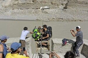 Markha Valley Trek, Zanskar-Fluss bei Chilling, Seilbahn