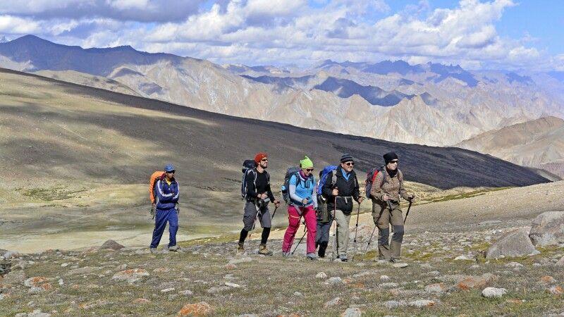 Aufstieg zum Kongmaru La (5130m) © Diamir