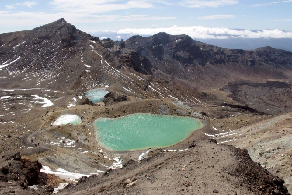 Gletscherseen beim tongariro Alpine Crossing