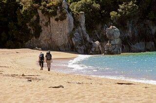 Einer der beliebtesten Trekks in Neuseeland. Der Abel Tasman Coastal Track