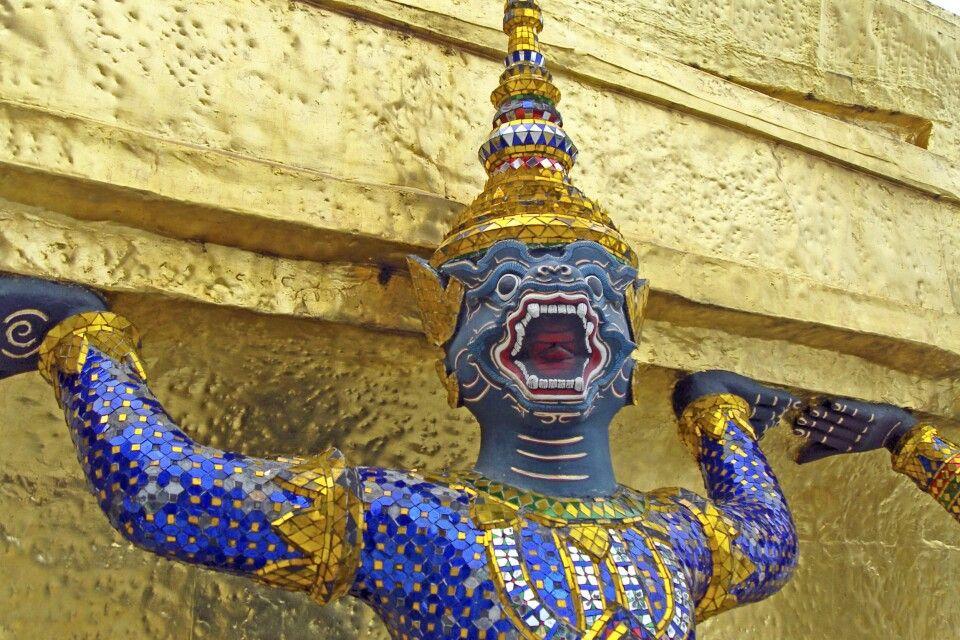 Tempelwächter in Bangkok
