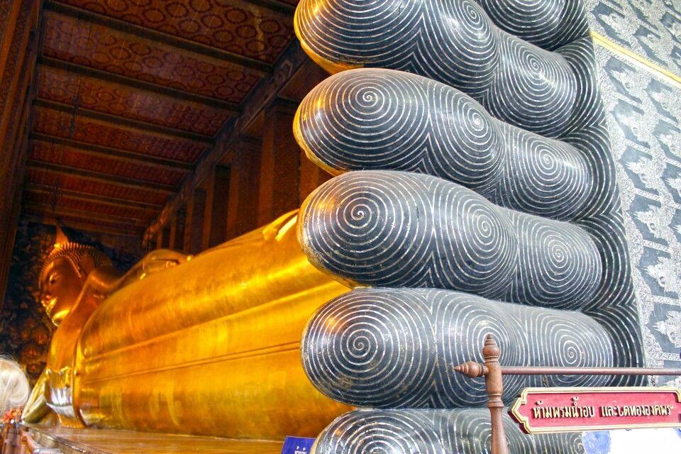 Liegender Goldbuddha in Wat Po