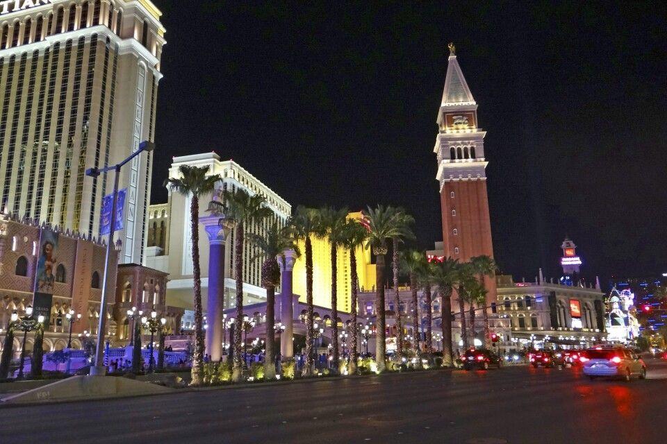 Blick auf das Venetian Hotel in Las Vegas