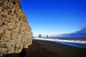 Spektakulärer Strand bei Reynisfrara