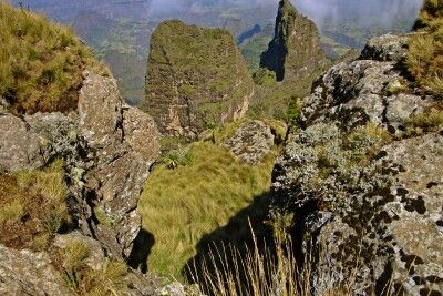 Szenerie in den Semien-Berge