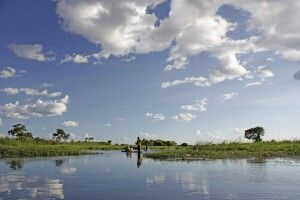 Malerisches Okavango Delta