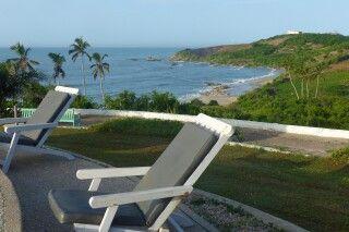 Ghana, Biriwa, Beach Hotel, Terrasse