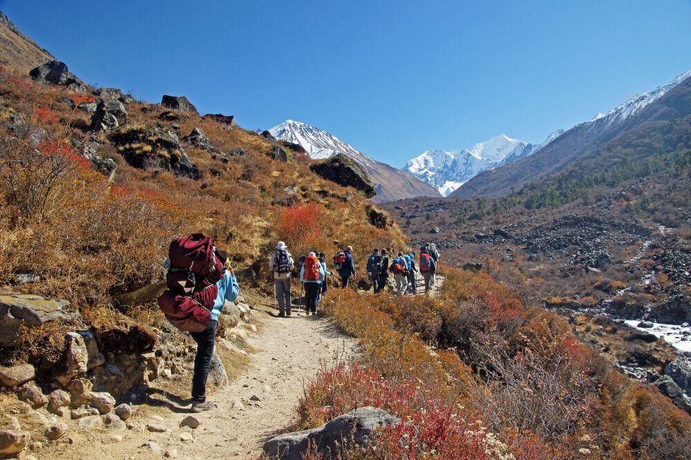 Wanderpfad hinauf nach Kyanjin Gompa