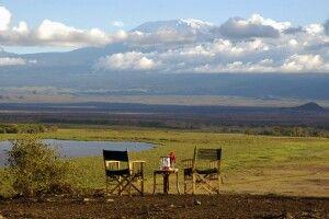 Blick auf den Kilimanjaro von der Amboseli Serena Safari Lodge
