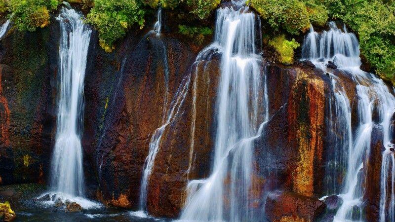 Der Lavawasserfall Hraunfossar © Diamir