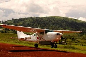 abhebende Cessna 206