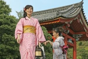 Damen im Kimono in Kyoto
