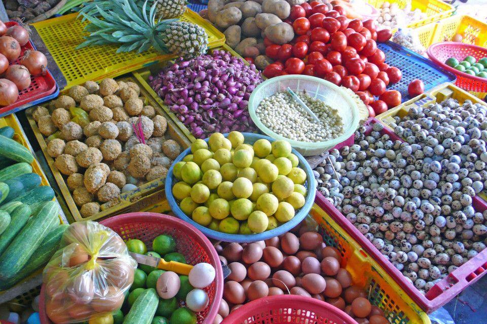 auf dem Markt in Hoi An