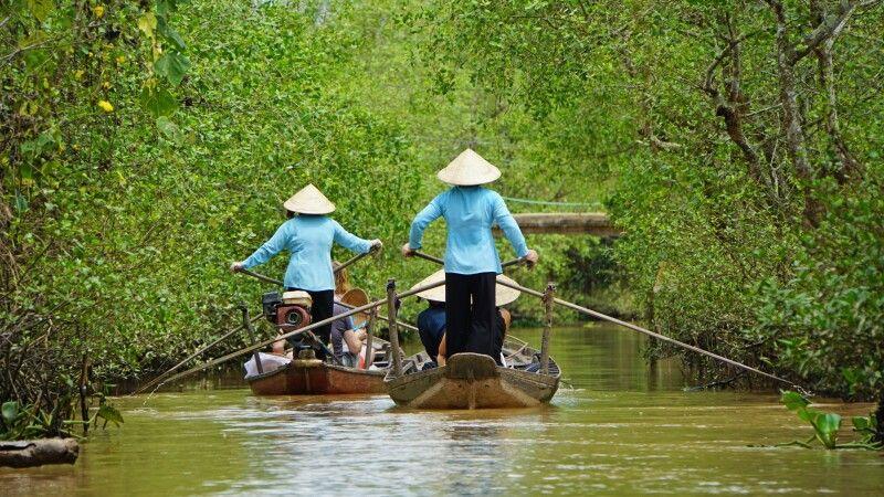 Unterwegs im Mekongdelta © Diamir