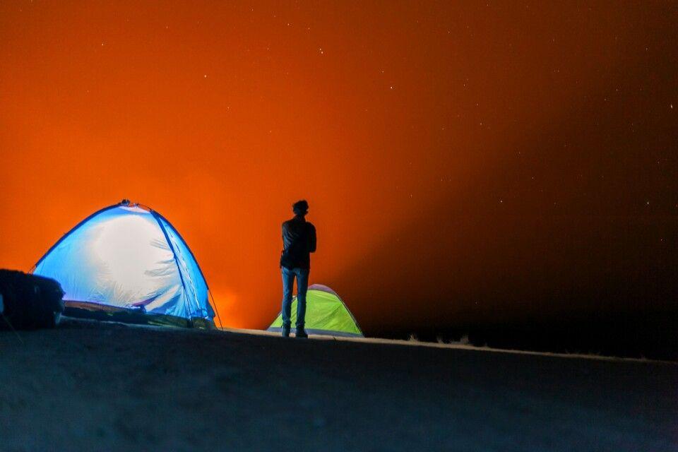 Lichtphänomen in der Wüste