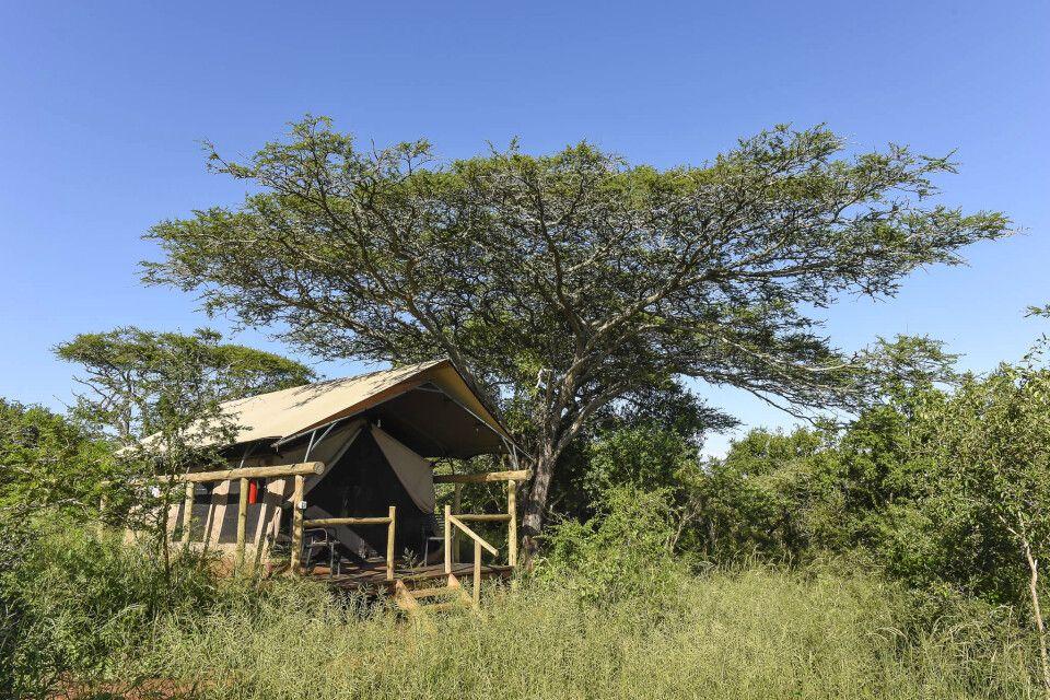 Hauszelt von der Zululand Lodge
