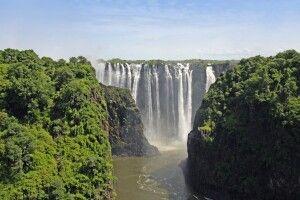 Zambia, Livingstone, Victoriafälle