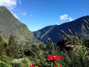 Bergszene auf der Route de Cilaos