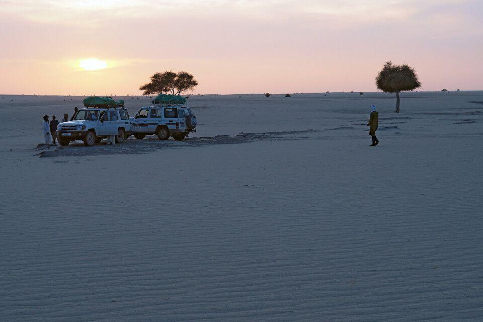 Sonnenuntergang im Tschad