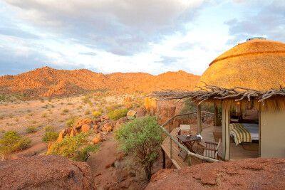 Mowani Mountain Camp, Ausblick in die Natur