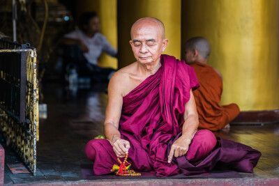 Buddhistischer Mönch in Myanmar