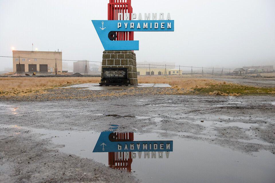 Die ehemalige russische Bergbausiedlung Pyramiden