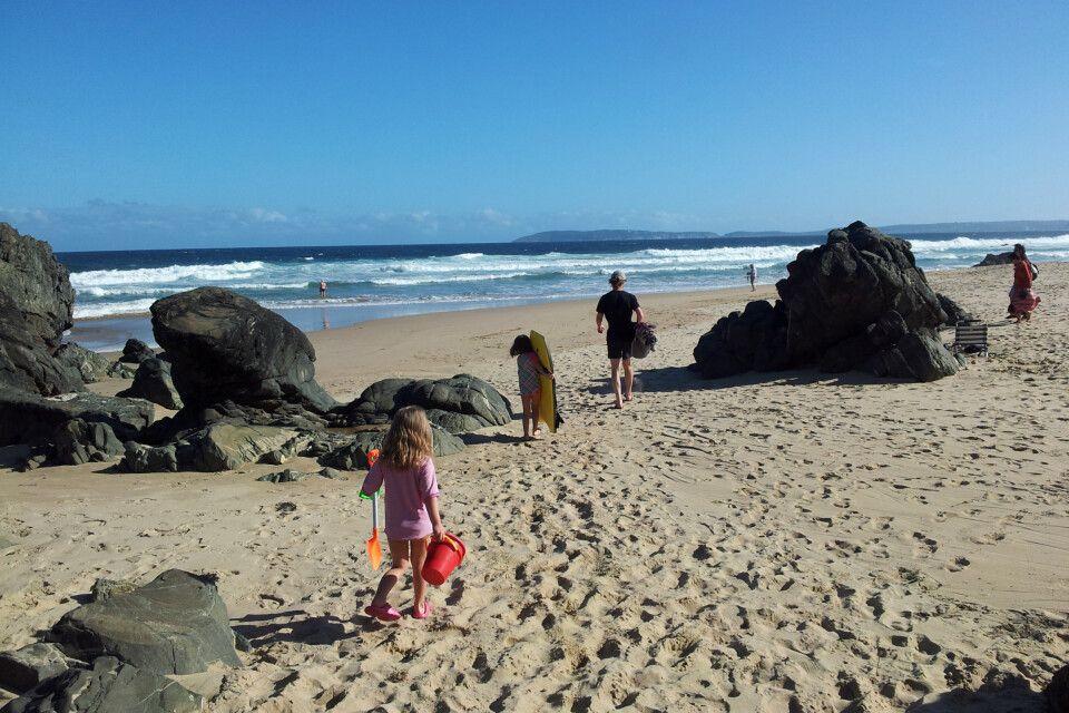 Herrliche Sandstrände an der Küste Südafrikas