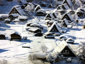 Wintermärchen in Shirakawa-gō