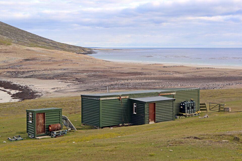 Einfache Hütte, spektakuläre Umgebung