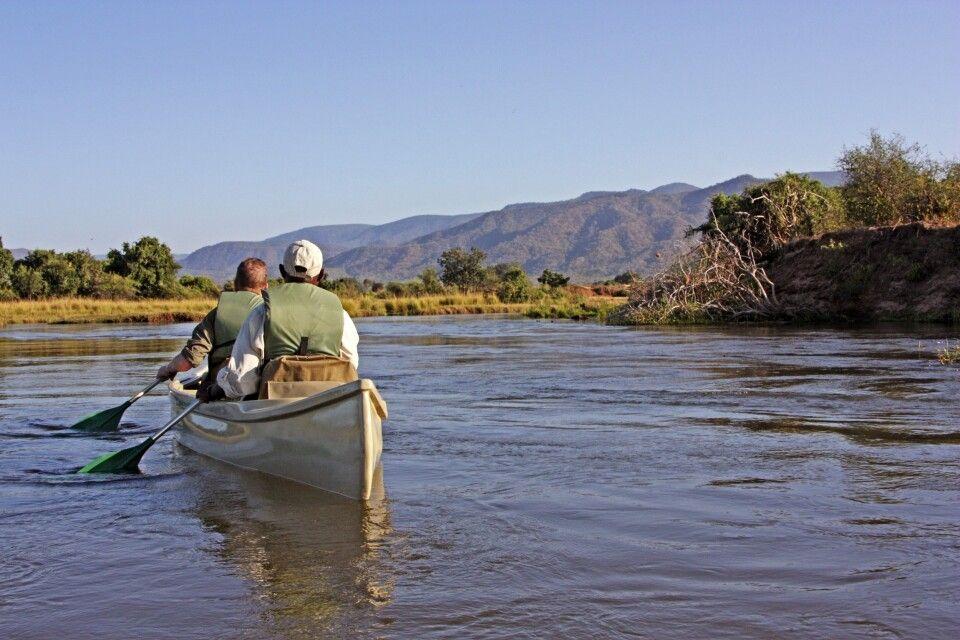 Kanu im Lower Zambezi NP
