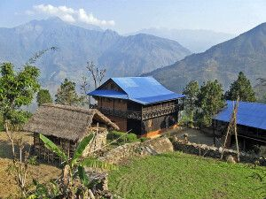 Dorf auf dem Weg zum Kanchenjunga-Basislager